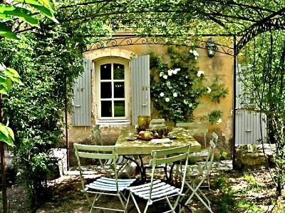 French country style gardens outdoor dining pinterest - French style gardens ...