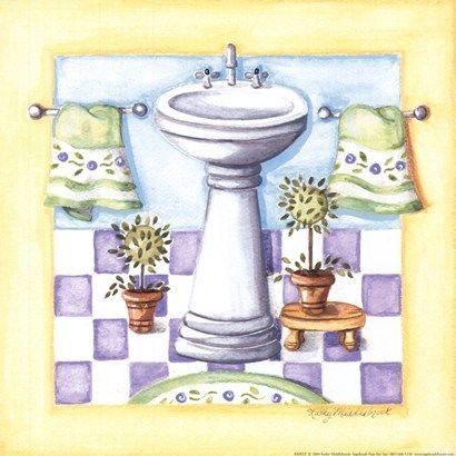 Yellow Bathroom - Sink Kathy Middlebrook Pinterest