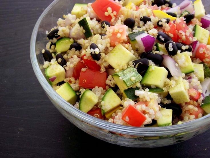 ... Summer Squash Salad -- easy recipe for a summer potluck. #OKLsummer