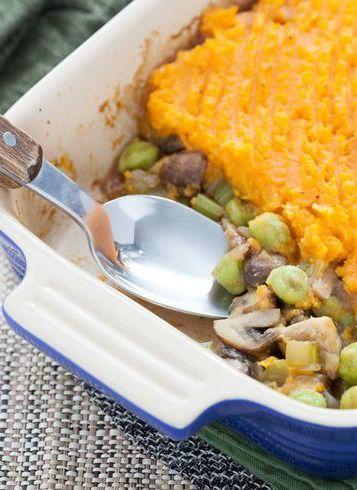 Mushroom & Sweet Potato Shepherd's Pie with Fresh Green Garbanzo ...