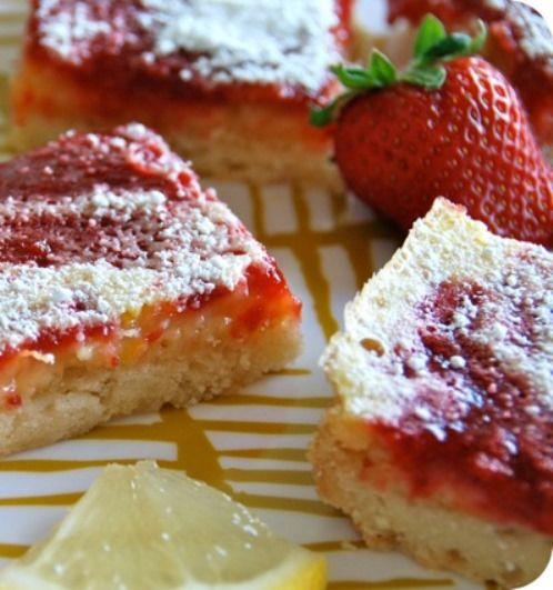 Strawberry Lemon Bars | Sweet Tooth! | Pinterest