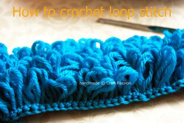 Crochet Stitches Yoh And Draw Up A Loop : Diy Crochet Tutorial: Loop Stitch Crochet projects Pinterest