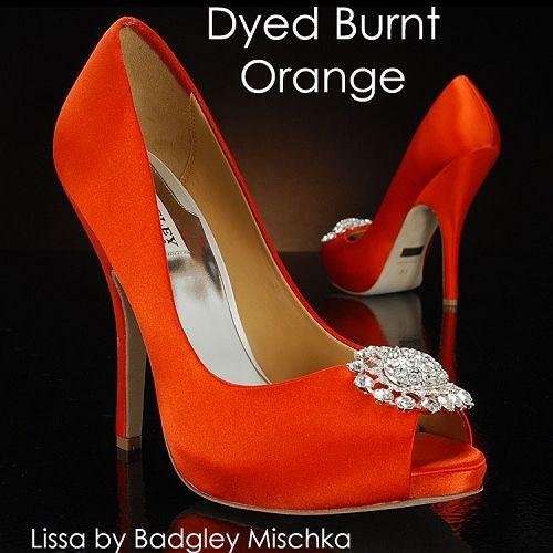 Lissa by Badgley Mischka BURNT ORANGE