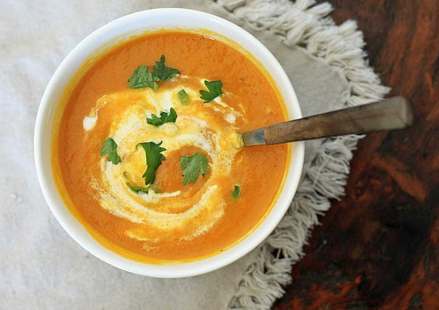 Moroccan Spiced Carrot Soup   Recipes to Try   Pinterest
