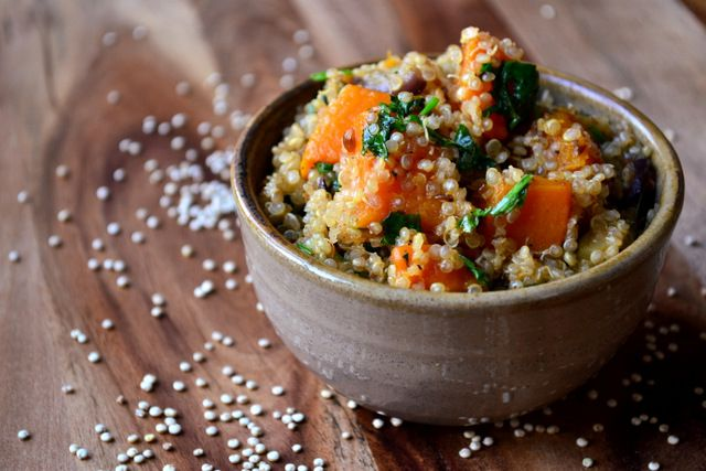 Roasted Vegetable Quinoa | food & drink | Pinterest