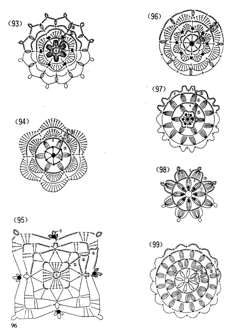 Crochet Patterns Motifs : Crochet motifs Free patterns Crochet Pinterest