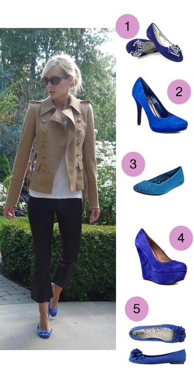 Steal This Look: Cobalt Blue Shoes