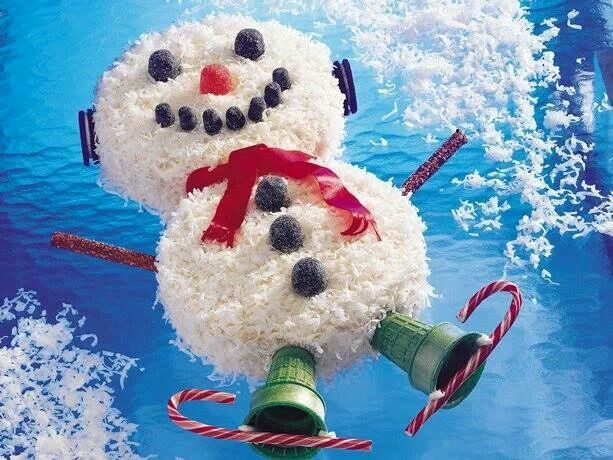 Snowman coconut cake | Cakes... in many ways!!! | Pinterest