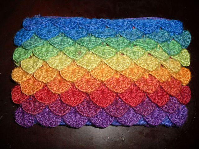 Crochet Stitches Crocodile : Crocodile Stitch Bag free pattern