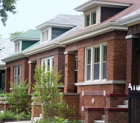 Chicago Bungalow Row Houses Keeping It Simple Pinterest
