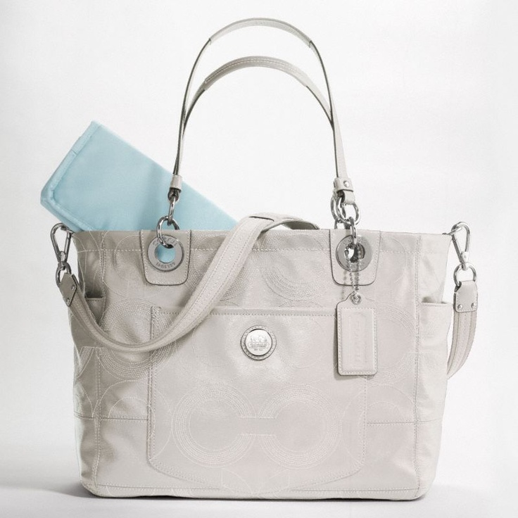 coach diaper bag with changing pad for the babes pinterest. Black Bedroom Furniture Sets. Home Design Ideas