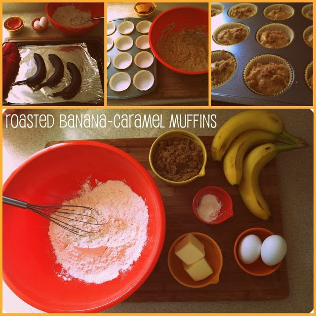 Roasted banana-caramel muffins | Muffins | Pinterest