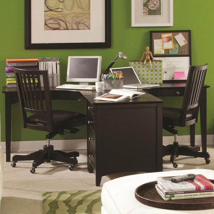 E2 midtown dual t desk dream home pinterest Desk for two persons