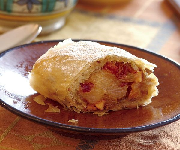 Crisp Pear Strudel _ The combination of pears and nuts in this crackly ...