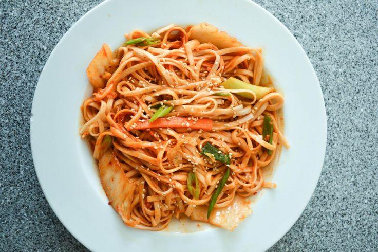 bibim guksu, Korean spicy cold noodles | Food | Pinterest