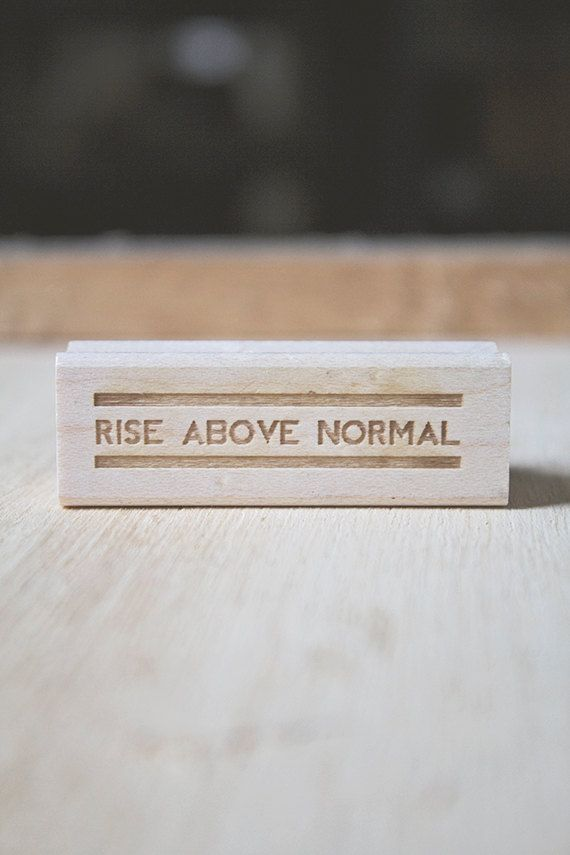Inspirational quote retro typography rubber stamp for for Inspirational items for office