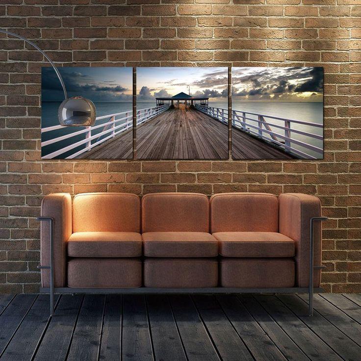 Australian Pier Triptych Wall Art