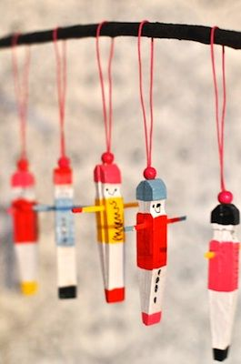 clothespin soldier ornament