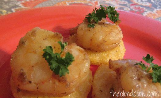 Shrimp & Grits Appetizer Bites | Recipe