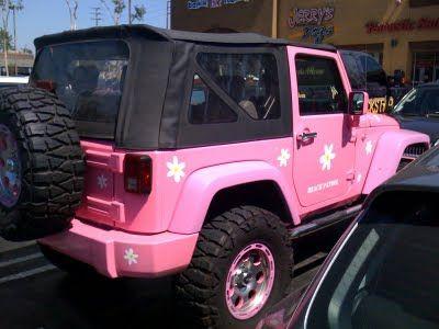 Pink jeep!