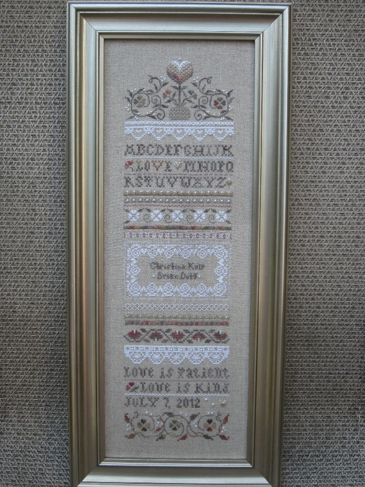 victoria sampler wedding sampler cross stitch pinterest