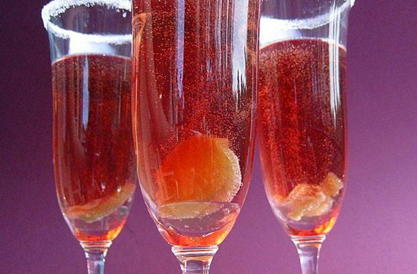Sparkling Pomegranate Cocktails Recipe — Dishmaps