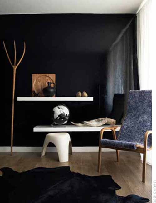High Gloss Black Wall Home Is Where The Heart Is