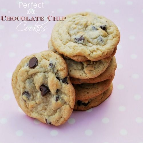 Perfect Chocolate Chip Cookies | Cookies | Pinterest