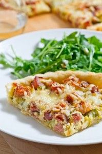 Ham and Leek Tart | Recipes | Pinterest
