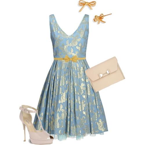 A blue afternoon tea dress brunch pinterest Cinderella afternoon tea
