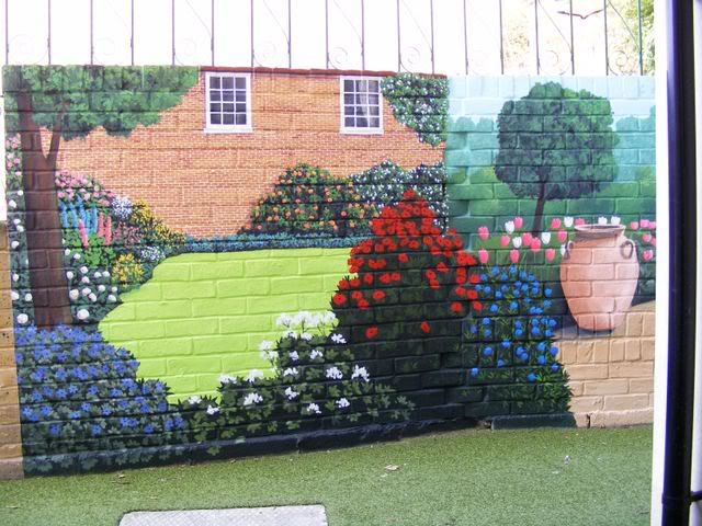 Exterior wall murals exterior wall garden mural photo by for Exterior wall mural