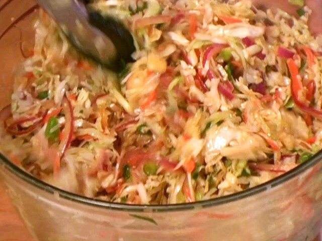 Asian Style Slaw from FoodNetwork.com - with our fish tacos