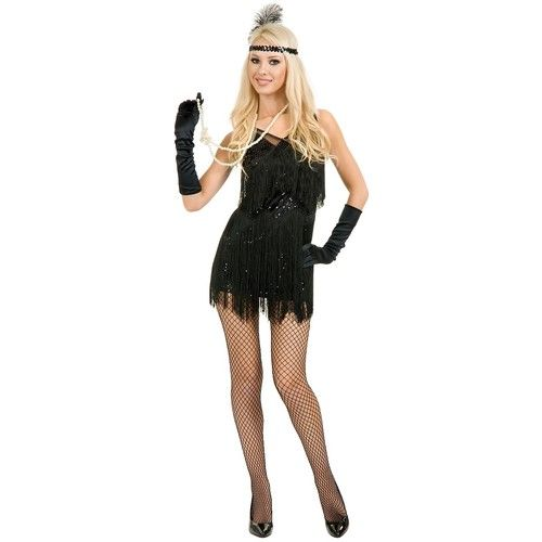Chicago Flapper Costume Adult 1920s Roaring 20'S Dress Halloween Fancy ...
