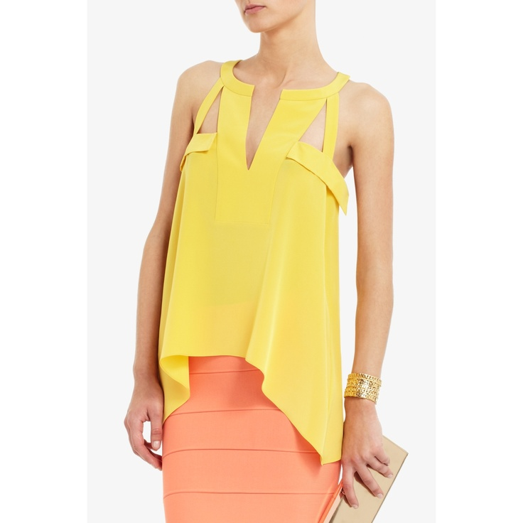 bcbg KAYLEEN SILK TOP