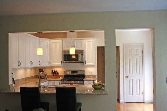 Open Wall Between Kitchen And Dining Room For The Home