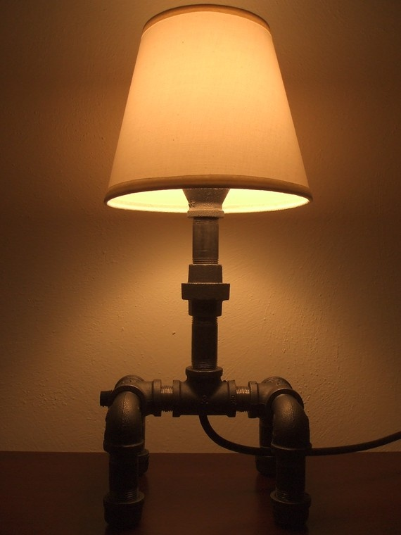 recycled iron pipe lamp | lamps | Pinterest