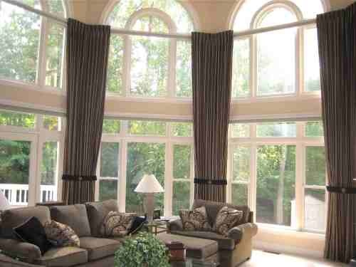 Window treatment for large windows why live a simple for Simple window treatments for large windows