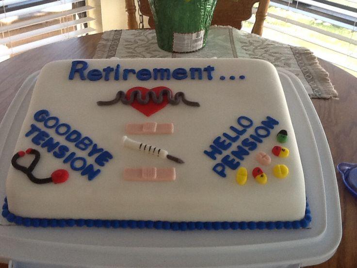 Cake Decorating Nurses Theme : Nursing retirement cake Retirement-theme Cookies, a ...