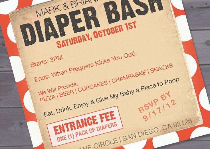 free diaper party invitations baby diaper invitation template