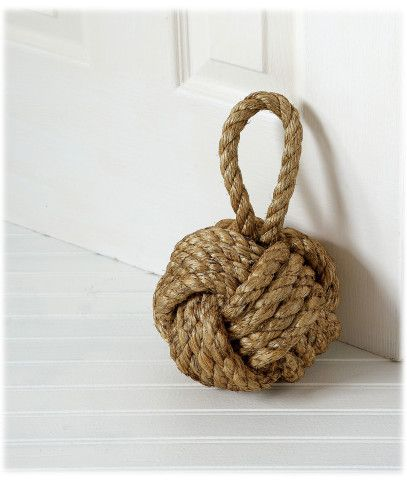 ROPE KNOT DOORSTOP - TWINE BALL | Home Decor | Pinterest