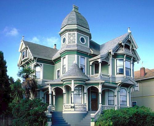 Green Victorian Style Architecture Architecture