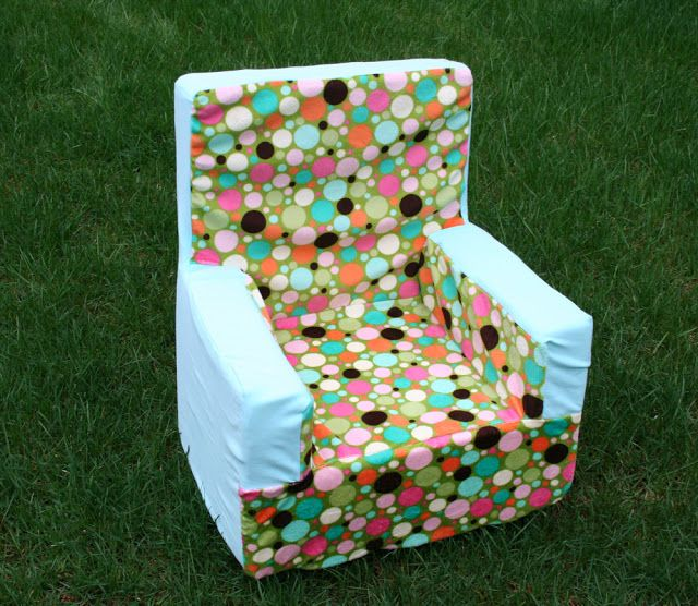 Diy toddler foam chair with cover fun for iz pinterest for Toddler foam chair