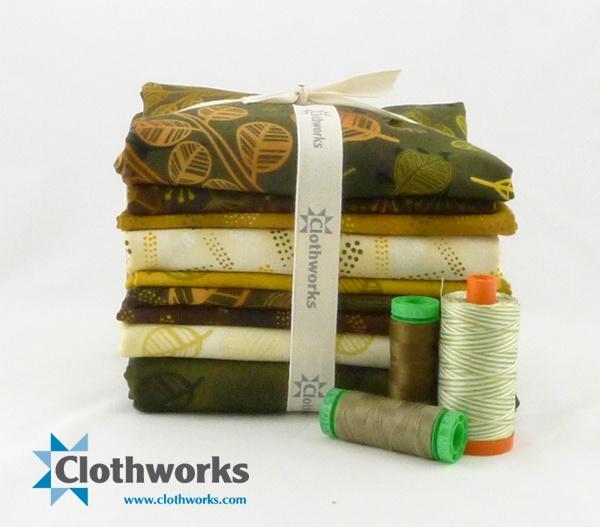 fall leaf quilt kit #clothworks