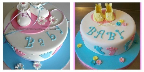 Baby Shower Cake...My version is on the right.
