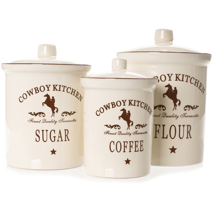 cowboy kitchen canister sets kitchen ideas pinterest