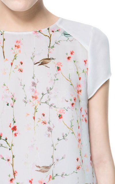 Zara Oriental Print Blouse 41