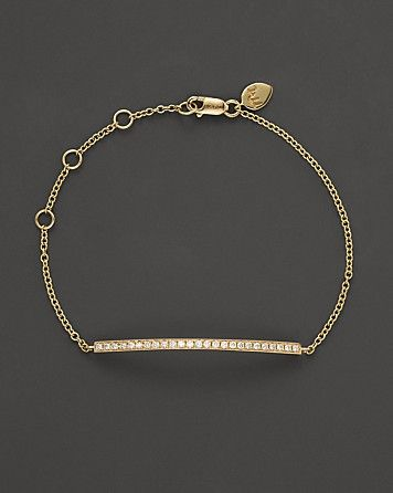 Meira T 14K Yellow Gold Diamond Bar Bracelet | Bloomingdale's
