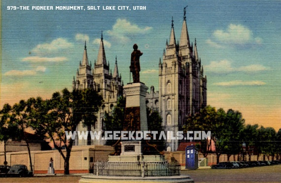 The Pioneer Monument Postcards from the Dr by geekdetails on Etsy, $6.00
