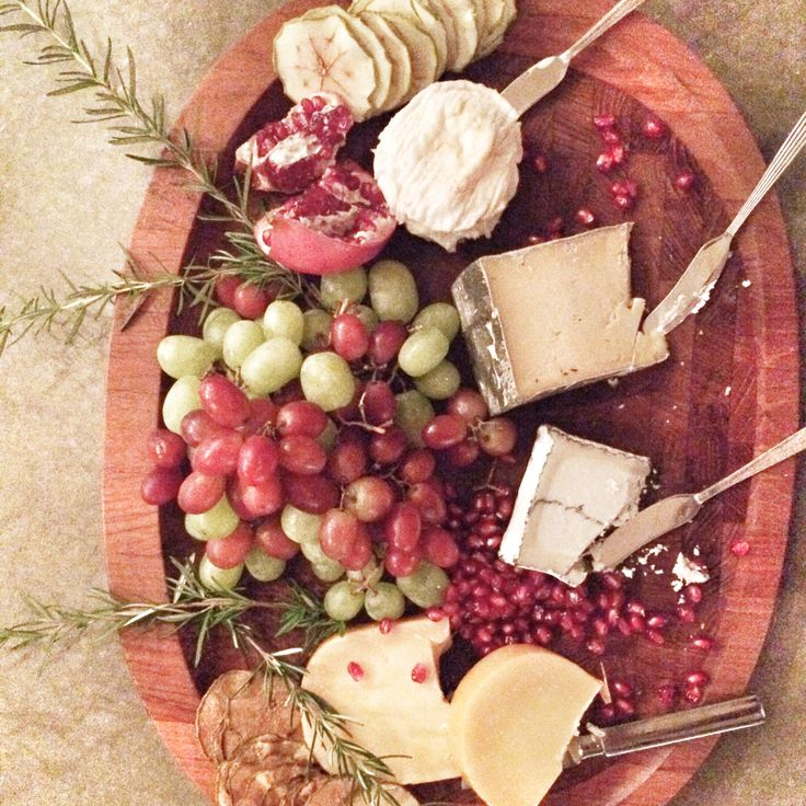 Fruit and cheese platter with Simple & Crisp Apple and Pear