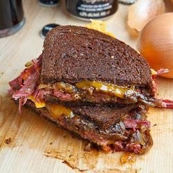 Corned Beef Grilled Cheese Sandwich | grill | Pinterest